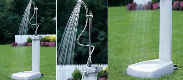 Ducha solar para exterior de dise o la web de las duchas for Duchas para piscinas exterior
