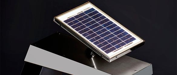 Detalle pequeño panel solar