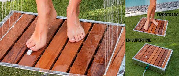 Plato de ducha con efecto lluvia de Oasis Star