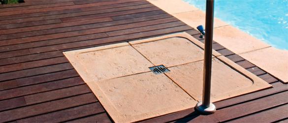 Platos de ducha para piscina la web de las duchas solares for Duchas para piscinas exterior